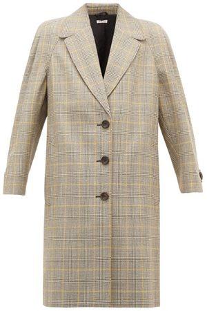 Miu Miu Manteau en laine vierge à imprimé Prince de Galles