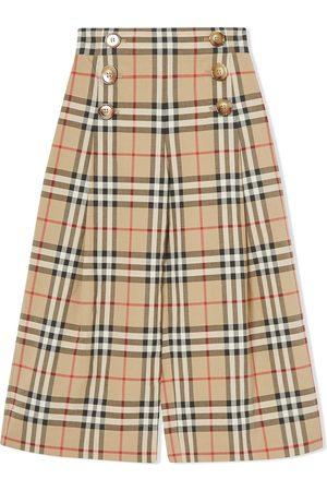 Burberry Pantalon ample à carreaux vintage