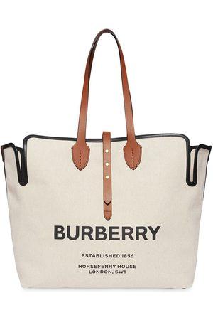 Burberry Grand sac cabas The Belt bi-matières