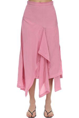 Colville Jupe Midi Drapée Taille Haute
