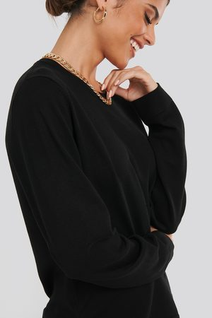 NA-KD Light Knitted Sweater - Black