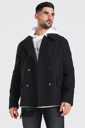 Boohoo Caban aspect laine classique Homme
