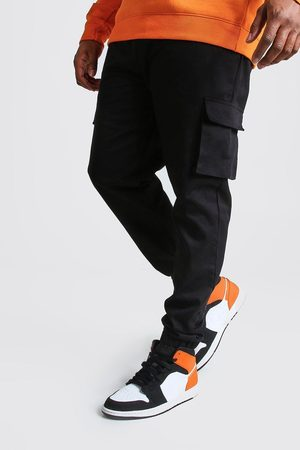 Boohoo Big And Tall Utility Pocket Cargo Jogger Trouser Homme