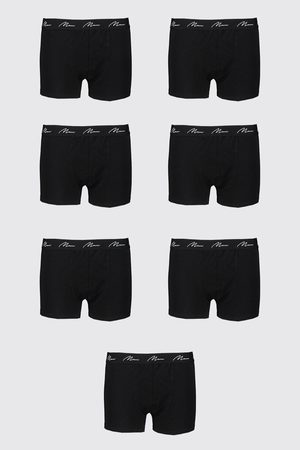 Boohoo Big And Tall 7 Pack MAN Script Boxers Homme
