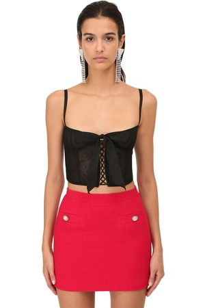 Alessandra Rich Lace Crop Bustier