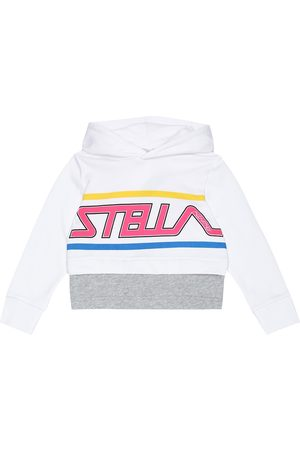 Stella McCartney Kids Sweat-shirt imprimé en coton à capuche