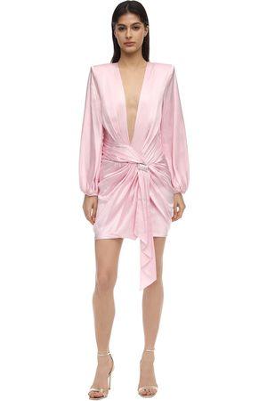 ALEXANDRE VAUTHIER Robe En Satin Stretch Embelli