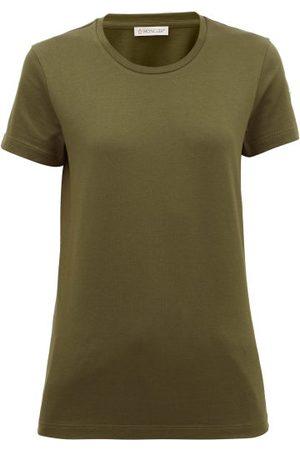 Moncler T-shirt en jersey de coton à empiècement logo