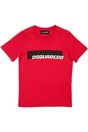 Dsquared2 T-shirt En Jersey De Coton Imprimé Logo