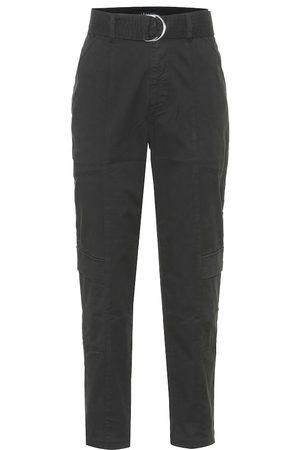 J Brand Femme Pantalons - Pantalon Athena en coton à taille haute
