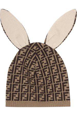 Fendi Bébé – Bonnet en coton, cachemire et laine mélangés