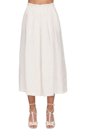 Ralph Lauren Crop Linen Wide Pants Skirt