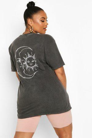 Boohoo T-Shirt Sun & Moon Plus