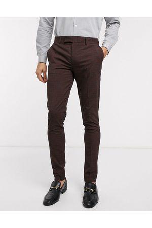ASOS Wedding - Pantalon de costume slim à mini carreaux