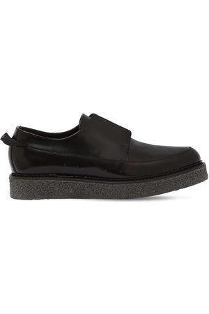 FAQTORY Chaussures Style Derby En Cuir Poli Sans Lacets