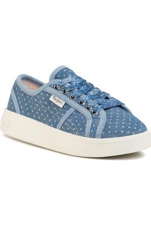 Pepe Jeans Fille Baskets - Sneakers - Brixton Denim PGS30430 Denim 000