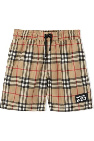 Burberry Short de bain à carreaux