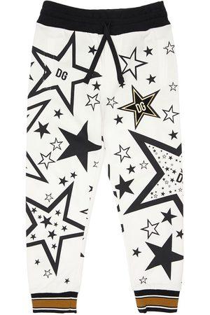 Dolce & Gabbana Pantalon De Sport En Coton Imprimé Étoile