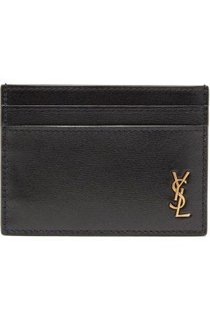 Saint Laurent Homme Pochettes & Étuis - Porte-cartes en cuir à monogramme YSL