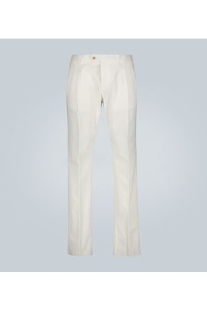 CARUSO Pantalon coton doubles pinces