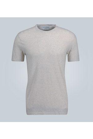 OFFICINE GENERALE T-shirt en coton à rayures