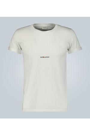 Saint Laurent Tee-shirt en coton à logo signature