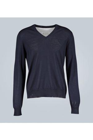 Maison Margiela Pull chemise spliced
