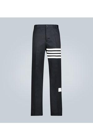 Thom Browne Pantalon en sergé de coton 4 bandes