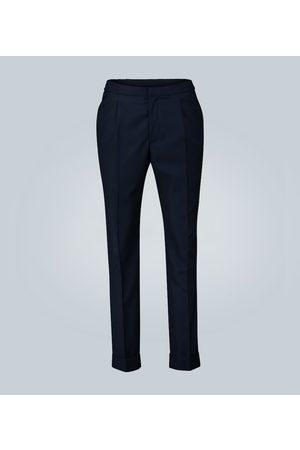OFFICINE GENERALE Pantalon en coton plissé