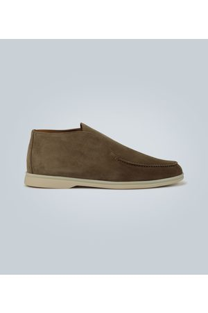 Loro Piana Bottines Open Walk en daim
