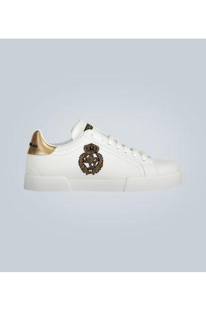 Dolce & Gabbana Baskets basses en cuir à logo