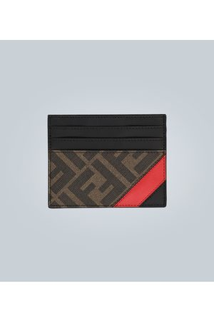 Fendi Porte-cartes en cuir avec logo