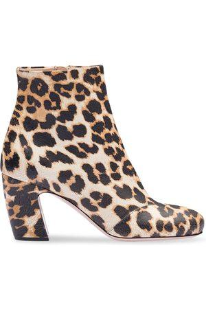 Miu Miu Bottines à motif léopard