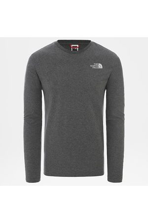 TheNorthFace The North Face T-shirt À Manches Longues Easy Pour Homme Tnf Medium Grey Heather Taille L Men