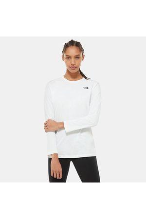 TheNorthFace The North Face T-shirt À Manches Longues Simple Dome Pour Femme Tnf White Taille L Women