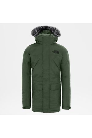 The North Face Parka En Duvet New Peak Pour Homme New Taupe Green Taille XS