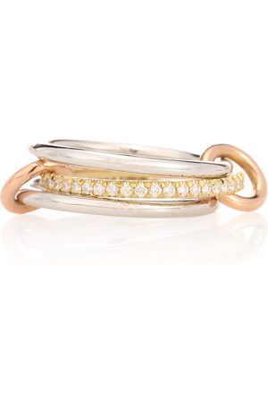 SPINELLI KILCOLLIN Bague Sonny MX en blanc, rose et jaune 18 ct et diamants