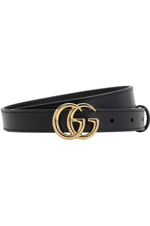 """Gucci Ceinture En Cuir Brillant """"gg Marmont"""" 20 Mm"""