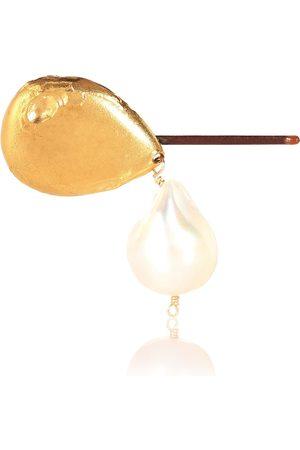 Alighieri Barrette Apollos Dance en bronze plaqué 24 ct et perle d'eau douce