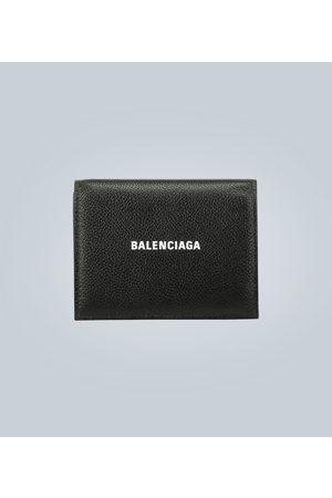 Balenciaga Porte-monnaie en cuir à logo