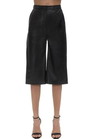 In the Mood for Love Pantalon Court Ample En Cuir