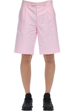 Prada Oxford Cotton Shorts