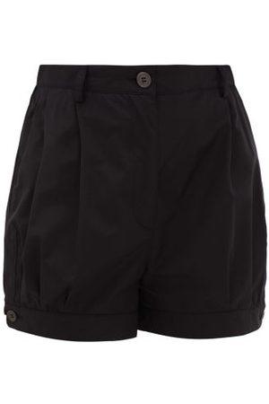 Prada Femme Shorts - Short taille haute en popeline de coton