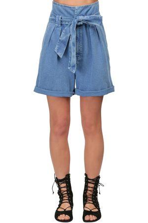 TEMPERLEY LONDON Short En Denim De Coton Taille Haute