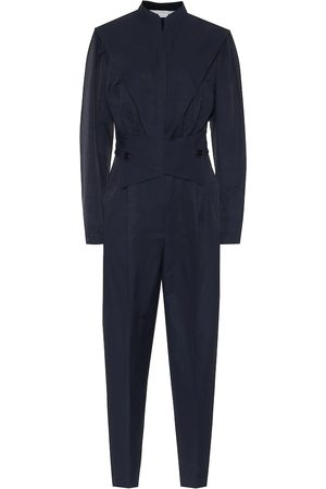 Stella McCartney Combi-pantalon en coton et lin mélangés