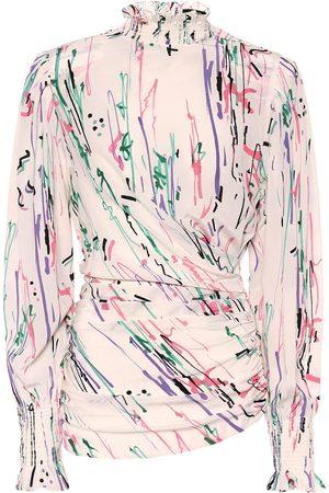 Isabel Marant Femme Manches longues - Top Fantine imprimé en soie mélangée