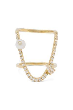 Anissa Kermiche Bague à diamant, saphir et perle U