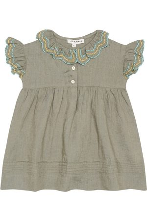 Caramel Bébé – Robe Sloane brodée en lin