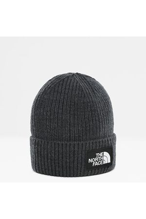 The North Face Bonnet À Revers Tnf Logo Box Tnf Medium Grey Heather Taille Taille Unique Standard