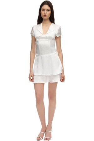 AYA MUSE Astrae Silk Jacquard Mini Dress W/corset